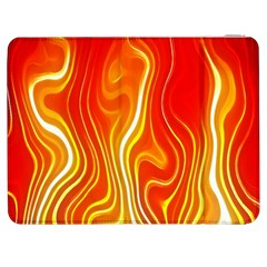 Fire Flames Abstract Background Samsung Galaxy Tab 7  P1000 Flip Case