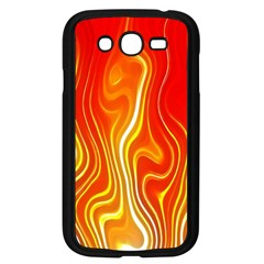 Fire Flames Abstract Background Samsung Galaxy Grand Duos I9082 Case (black)