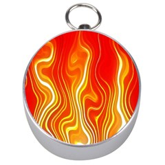 Fire Flames Abstract Background Silver Compasses