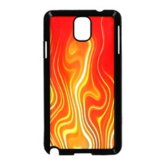 Fire Flames Abstract Background Samsung Galaxy Note 3 Neo Hardshell Case (Black)