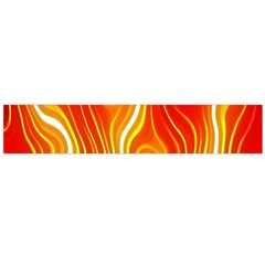Fire Flames Abstract Background Flano Scarf (Large)