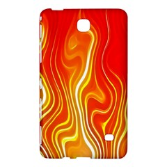 Fire Flames Abstract Background Samsung Galaxy Tab 4 (8 ) Hardshell Case