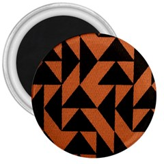 Brown Triangles Background 3  Magnets