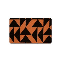 Brown Triangles Background Magnet (Name Card)