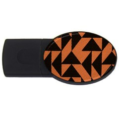 Brown Triangles Background USB Flash Drive Oval (2 GB)