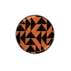 Brown Triangles Background Hat Clip Ball Marker