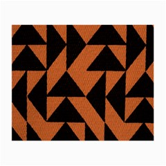 Brown Triangles Background Small Glasses Cloth