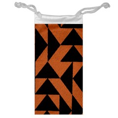 Brown Triangles Background Jewelry Bag
