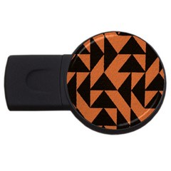 Brown Triangles Background Usb Flash Drive Round (4 Gb)