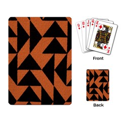 Brown Triangles Background Playing Card