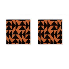 Brown Triangles Background Cufflinks (Square)