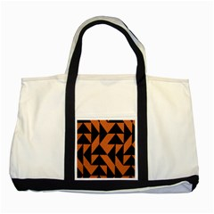 Brown Triangles Background Two Tone Tote Bag