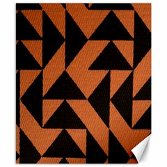Brown Triangles Background Canvas 8  X 10
