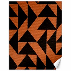 Brown Triangles Background Canvas 12  X 16