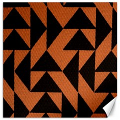 Brown Triangles Background Canvas 16  X 16
