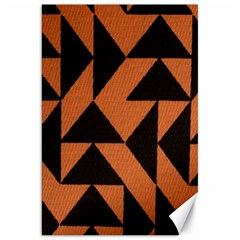 Brown Triangles Background Canvas 20  X 30