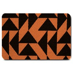 Brown Triangles Background Large Doormat