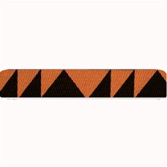 Brown Triangles Background Small Bar Mats