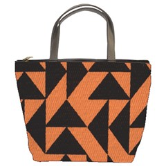 Brown Triangles Background Bucket Bags
