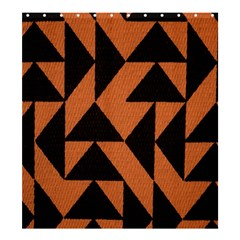 Brown Triangles Background Shower Curtain 66  X 72  (large)