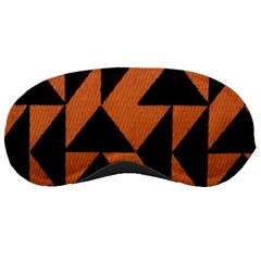 Brown Triangles Background Sleeping Masks