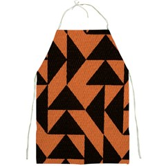 Brown Triangles Background Full Print Aprons