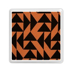 Brown Triangles Background Memory Card Reader (square)