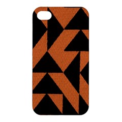 Brown Triangles Background Apple Iphone 4/4s Hardshell Case