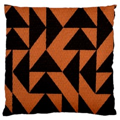 Brown Triangles Background Large Cushion Case (One Side)