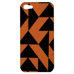 Brown Triangles Background Apple iPhone 5 Hardshell Case