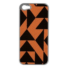 Brown Triangles Background Apple iPhone 5 Case (Silver)