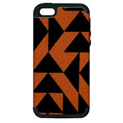Brown Triangles Background Apple Iphone 5 Hardshell Case (pc+silicone)