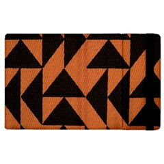 Brown Triangles Background Apple iPad 2 Flip Case