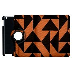 Brown Triangles Background Apple iPad 2 Flip 360 Case