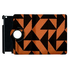 Brown Triangles Background Apple Ipad 3/4 Flip 360 Case