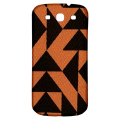 Brown Triangles Background Samsung Galaxy S3 S Iii Classic Hardshell Back Case