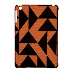 Brown Triangles Background Apple iPad Mini Hardshell Case (Compatible with Smart Cover)