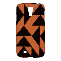 Brown Triangles Background Samsung Galaxy S4 I9500/I9505 Hardshell Case
