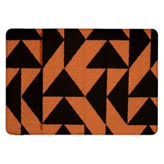 Brown Triangles Background Samsung Galaxy Tab 8.9  P7300 Flip Case
