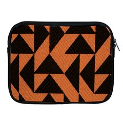 Brown Triangles Background Apple Ipad 2/3/4 Zipper Cases