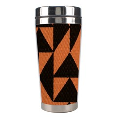 Brown Triangles Background Stainless Steel Travel Tumblers