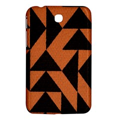 Brown Triangles Background Samsung Galaxy Tab 3 (7 ) P3200 Hardshell Case