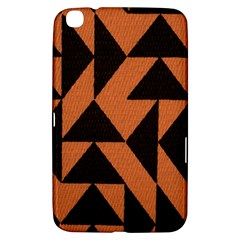 Brown Triangles Background Samsung Galaxy Tab 3 (8 ) T3100 Hardshell Case