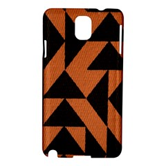Brown Triangles Background Samsung Galaxy Note 3 N9005 Hardshell Case