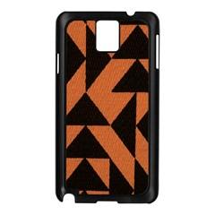 Brown Triangles Background Samsung Galaxy Note 3 N9005 Case (Black)