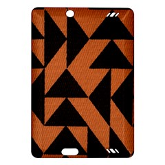 Brown Triangles Background Amazon Kindle Fire HD (2013) Hardshell Case