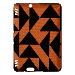 Brown Triangles Background Kindle Fire HDX Hardshell Case