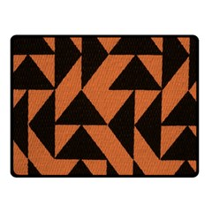 Brown Triangles Background Double Sided Fleece Blanket (Small)