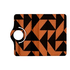 Brown Triangles Background Kindle Fire HD (2013) Flip 360 Case