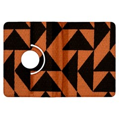 Brown Triangles Background Kindle Fire HDX Flip 360 Case